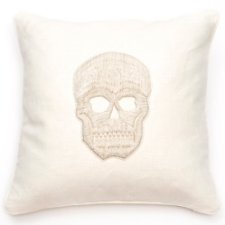 Corded Skull Pillow