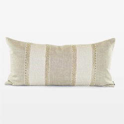 Natural Belgian Chintz Linen Pillow Wide