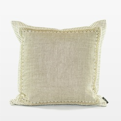 Natural Belgian Chintz Linen Pillow