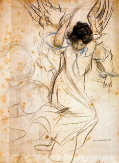Ramon Casas i Carbó - Angel
