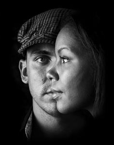 Wicked Couple Portrait