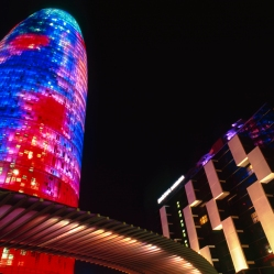 TORRE AGBAR BARCELONA NIGHT